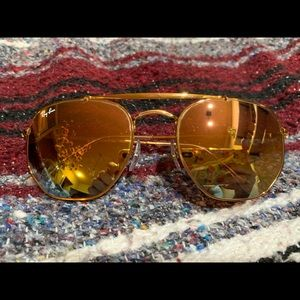 Ray-Ban Accessories - Ray Bans!! Oval shape with rainbow mirror lens